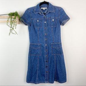 Tommy Hilfiger size 6 denim dress snap up VTG